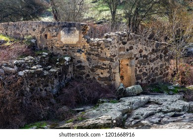 Ruins of an old mill dating from 1862, located near Malpartida de Caceres. Molino de Las Hijadillas. Extremadura. Spain.