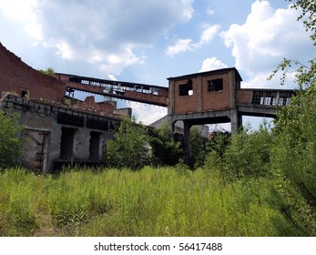 The ruins of the old pulp and paper factory (KZCP) in Kalety, Poland