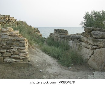 the ruins of the old town