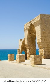Ruins of the old Turkish custom. Ahziv.Israel