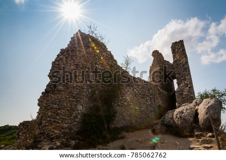 Ruins On Top Hill Blue Sky Stock Photo Edit Now 785062762