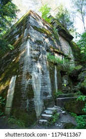 The ruins of one of Wolf's Lair bunkers, Adolf Hitler's military headquarters in World War II (Poland).