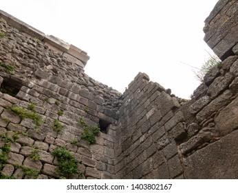 The ruins of an open air museum Acropolis, Pergamon, Turkey.