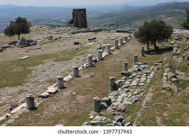The ruins of an open air museum Pergamon, Turkey