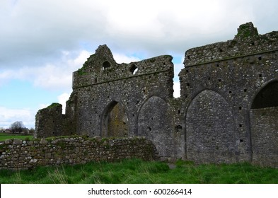 The ruins of the outer walls of Hore Abbey in Ireland.