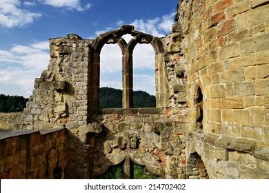 Ruins of Oybin monastery, Germany