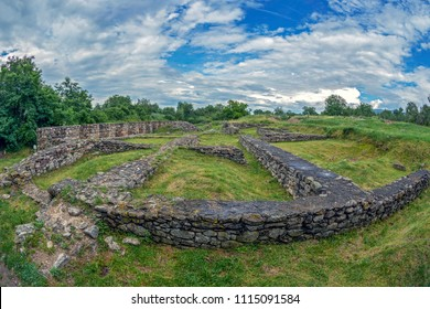 Ruins of the palace of the financial Procurator of the antique province Dacia Apulensis, Sarmizegetusa, Hateg Country, Romania.  It was founded around the years 106 to 110 d.Hr.