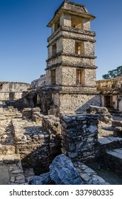 Ruins of the Palace in Palenque, Mexico