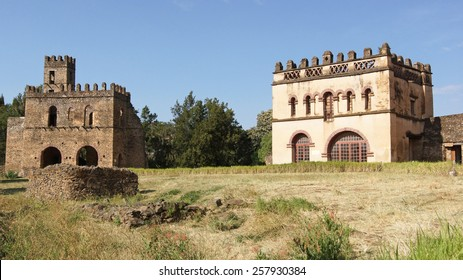 Ruins of the palaces of Gondar, Ethiopia, Africa