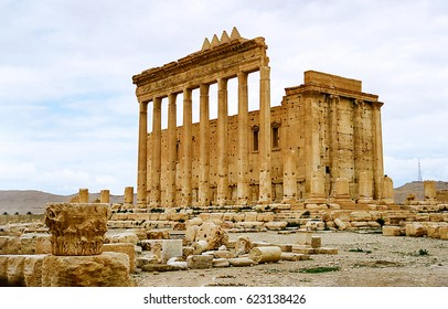 Ruins of Palmyra in Syria. Ancient Palmyra ruins in Syria