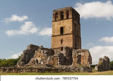Ruins of Panama Viejo, UNESCO World heritage site, Panama