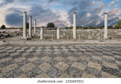 Ruins in Pella, the native town of Alexander the Great, Greece