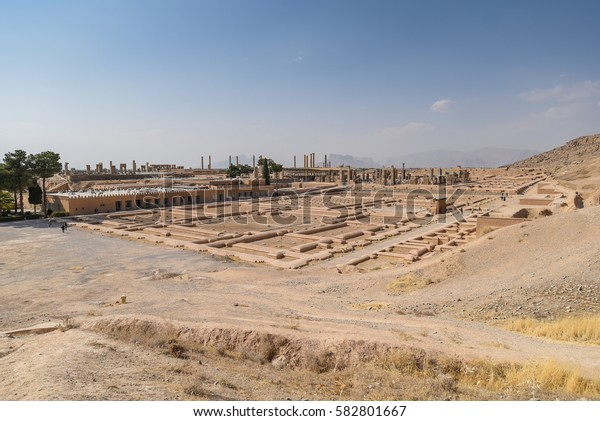 Ruins of Persepolis (UNESCO World heritage sites), ancient Persian city and the ceremonial capital of the Achaemenid Empire, situated 60 km northeast of Shiraz city in Fars Province, Iran
