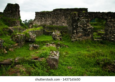 The ruins of Petra Justiniana Fortress in former Lazica at Black Sea near Batumi, Adjara, Georgia. In 6th century at Byzantine emperor Justinian I it served an Eastern Roman outpost in the Caucasus