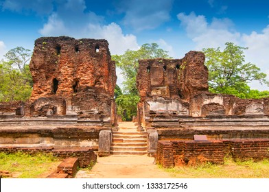 The Ruins Of Polonnaruwa, the Second Most Ancient Of Sri Lankas Kingdoms.