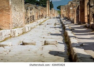 The ruins of Pompeii, Pompeii was destroyed and buried with ash after Vesuvius eruption in 79 AD, Napoli, Italy