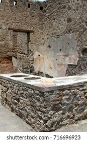 The ruins of Pompeii, Italy, an ancient Roman city that was buried in ash during the volcanic eruption of Mount Vesuvius in 79AD.