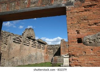 Ruins at Pompeii, Italy.  Date back to 79 AD.