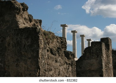 Ruins from Pompeii, Italy.  Dates back to 79AD.