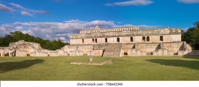 Ruins of Poop palace (Palace of the Masks) in Kabah, Yucatan, Mexico