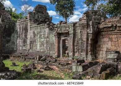 Ruins of Preah Khan temple, ancient Khmer sanctuary in Angkor Wat area near Siem Reap, Cambodia
