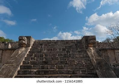 ruins, pyramid and temples  in Chichen Itza, Yucatan, Mexico4.