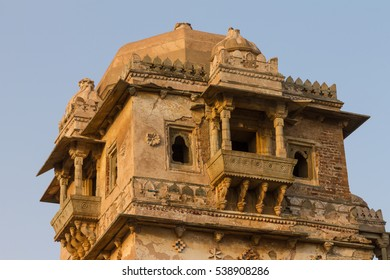 Ruins of Rana Kumbha Palace in the fort of Chittor. Chittorgarh (fortress of Chittor) is the largest fort in India & Asia. It's a UNESCO World Heritage Site - Hill Forts of Rajasthan. India.