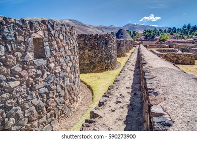 Ruins of Raqch'i, Raqchi or Temple of Wiracocha near Cusco, Peru