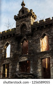 Ruins of the Renwick Smallpox Hospital on Roosevelt Island, New York City, New York, USA