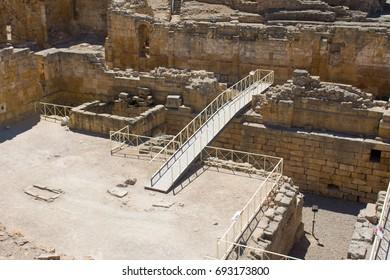 the ruins of the roman amphitheatre in tarragona