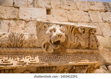 The ruins of the Roman city of Heliopolis or Baalbek in the Beqaa Valley. Baalbek, Lebanon