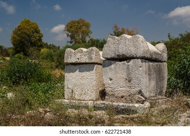 Ruins of the Roman city in Tyre, Lebanon