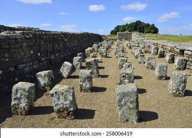 Ruins of the Roman fort, Housesteads Roman Fort, Haydon Bridge, Hexham, Northumberland, England, United Kingdom, Europe