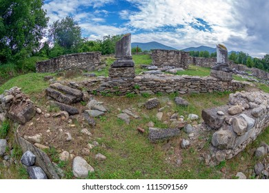 Ruins of the Roman Forum of the antique province Dacia Apulensis, Sarmizegetusa, Hateg Country, Romania. It was founded around the years 106 to 110 d.Hr.