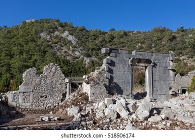 Ruins of a Roman Temple at Olympos in Antalya, Turkey