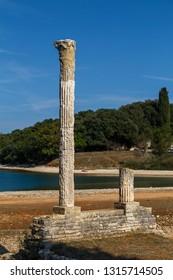 Ruins of Roman villa on Brijuni island, Croatia