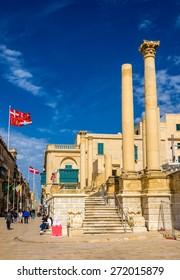 Ruins of the Royal Opera House in Valletta - Malta