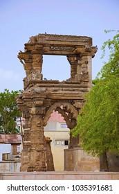 Ruins of the Rudramala or the Rudra Mahalaya Temple, Sidhpur, Patan, Gujarat, India