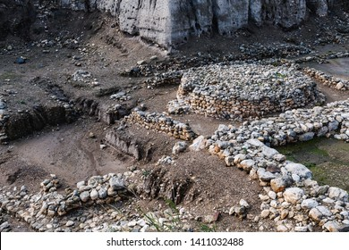 Ruins of a sacrificial altar in Israel