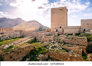 Ruins of Saint Catalina's Castle (Castillo de Santa Catalina), a castle that sits on the Cerro de Santa Catalina overlooking the Spanish city of Jaén
