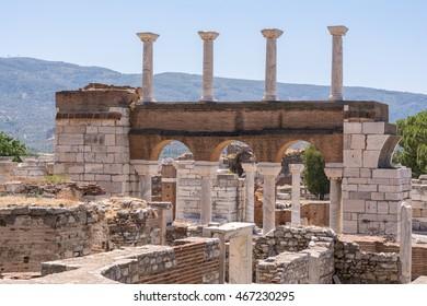 Ruins of Saint John Basilica, Ephesus, Selcuk, Turkey
