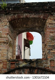 Ruins of Santo Domingo church in Casco Viejo (Historic Center - old town) of Panama City.