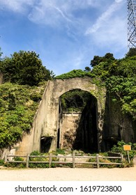 Ruins of a secret Japanese base where chemical weapons were manufactured during World War II on the island of Okunoshima