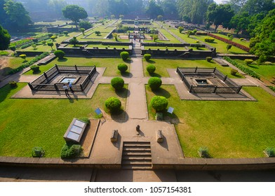 Ruins, Shaniwar Wada. Historical fortification built in 1732 and  seat of the Peshwas until 1818