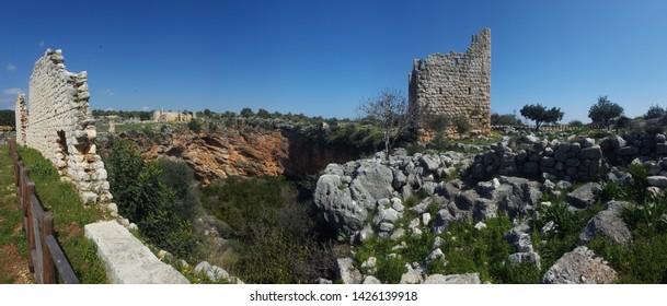 ruins site of important Mersin Erdemli Kanlıdivane Turkey ancient city many religious basilica