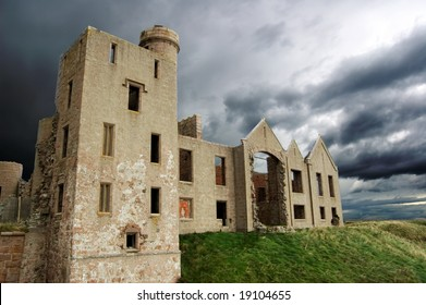 the ruins of Slains Castle, Scotland