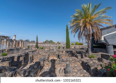 The ruins in the small town Capernaum on the coast of the lake of Galilee. According to the bible this is the place where Jesus lived, Israel.
