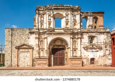 Ruins of Society of Jesus church in Antigua Guatemala