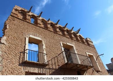 Ruins of the Spanish Civil War. Belchite. Zaragoza. Spain.