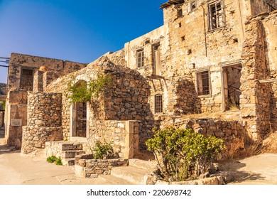 The ruins of Spinalonga - the last leprosorium.
